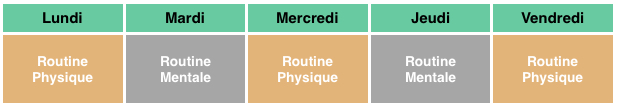 calendrier routine Sleevup
